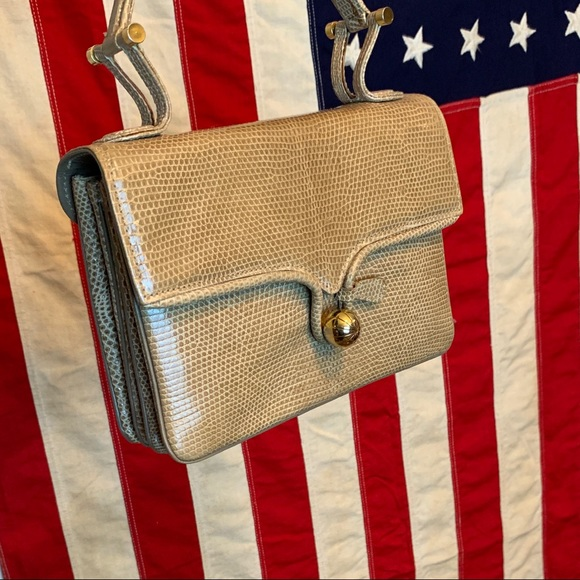 Vintage Handbags - VTG Sacha French Genuine Lizard Skin Handbag